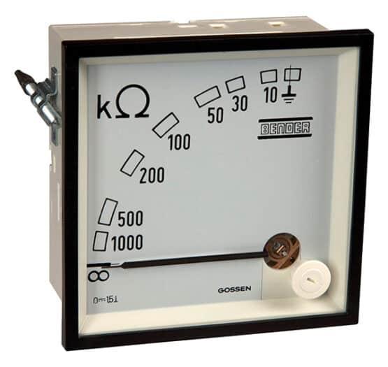 Måleinstrument til visning af måleværdier i isolationsovervågningsudstyr i kategorien Systemkomponenter leveres af fournais bender