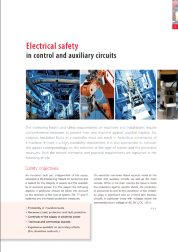 Elektrisk sikkerhed i kontrol- og hjælpekredse