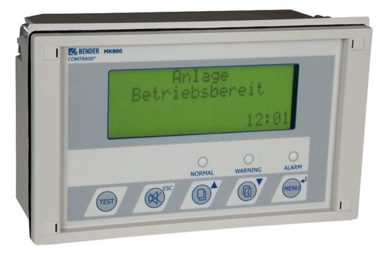 MK800 er et akustisk og visuelt alarmsystem fra Bender i kategorien Alarmsystemer leveres af fournais bender