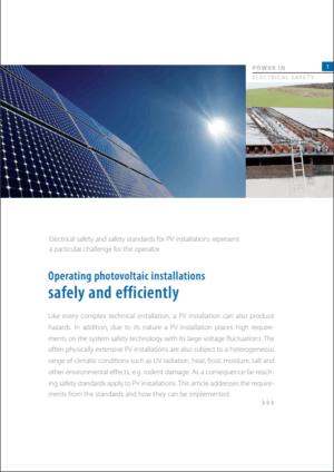 Sikkerhed og effektiv drift af solcellesystemer