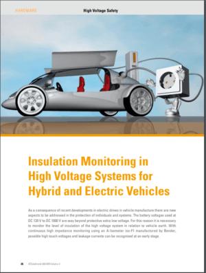 Isolationsovervågning i højspændingssystemer til hybrid- og elbiler